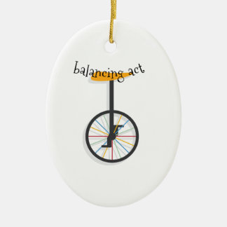 Balancing Act Ceramic Ornament