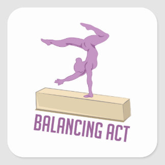 Balancing Act Square Sticker