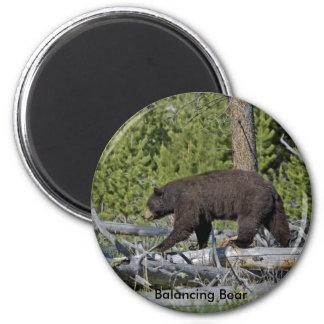 Balancing Bear 2 Inch Round Magnet