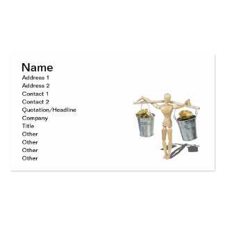 Balancing Buckets of Gold Coins Business Card
