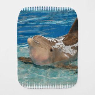 Balancing Dolphin Baby Burp Cloths