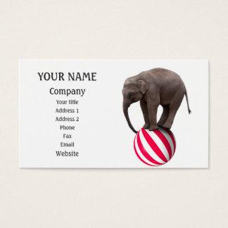 Balancing elephant business card