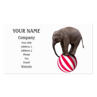 Balancing elephant business card template