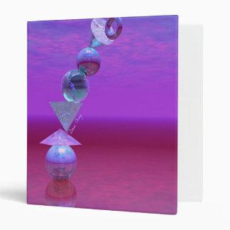Balancing - Fuchsia and Violet Equilibrium 3 Ring Binder