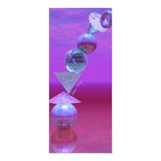 Balancing - Fuchsia and Violet Equilibrium 4x9.25 Paper Invitation Card
