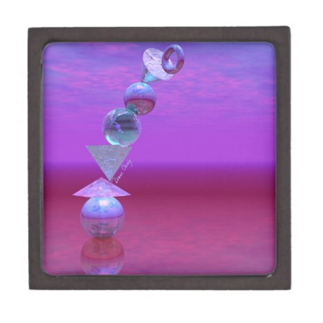 Balancing - Fuchsia and Violet Equilibrium Jewelry Box