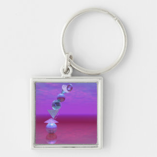 Balancing - Fuchsia and Violet Equilibrium Keychain