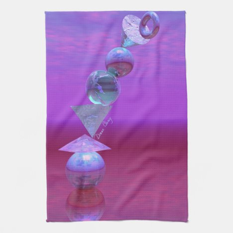 Balancing - Fuchsia and Violet Equilibrium Kitchen Towel