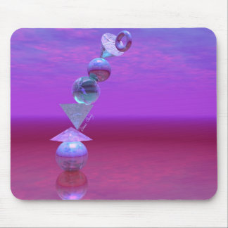 Balancing - Fuchsia and Violet Equilibrium Mouse Pad