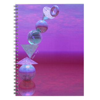 Balancing - Fuchsia and Violet Equilibrium Spiral Notebooks