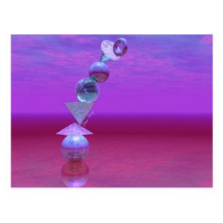 Balancing - Fuchsia and Violet Equilibrium Postcard