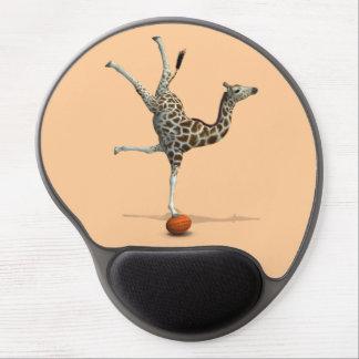 Balancing Giraffe Gel Mouse Mats