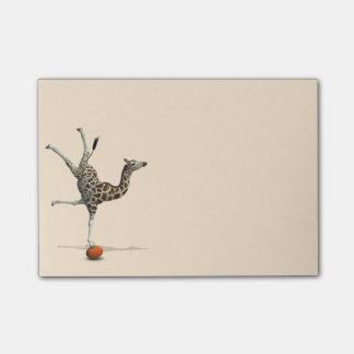 Balancing Giraffe Post-it Notes