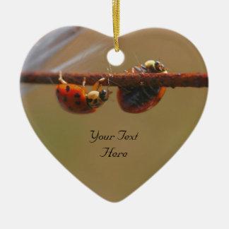 Balancing Ladybugs Cute Nature Ornament