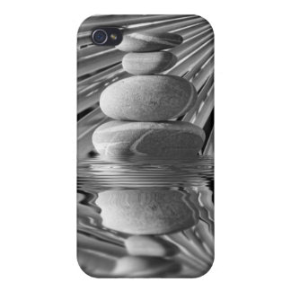 Balancing pebbles and floral iPhone 4 case