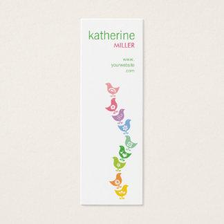 Balancing Retro Rainbow Chicks Whimsy Profile Card