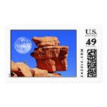 Balancing Rock, Garden of the Gods Postage Stamp