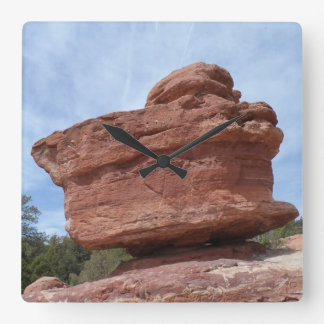 Balancing Rock- Garden of the Gods Square Wall Clock