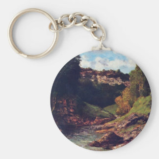 Balancing Rocks By Courbet Gustave Keychains
