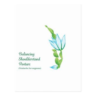 (Balancing Shoulderstand Posture)Postcard Postcard