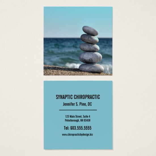 Balancing Stones Photograph Square Chiropractor Square Business Card
