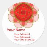 """""""Balancing the Root Chakra"""" Address Label Round Sticker"""