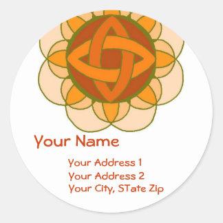 """Balancing the Sacral Chakra"" Address Label"