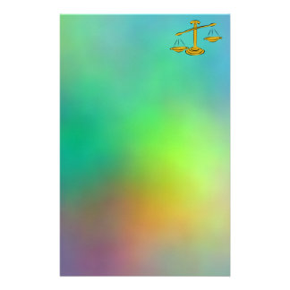 Balancing the Scales Personalized Stationery