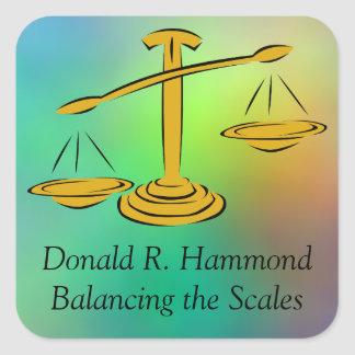 Balancing the Scales Square Sticker