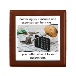 """Balancing your income and expenses can be tricky"" Jewelry Box"