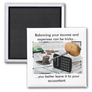 """""""Balancing your income and expenses can be tricky"""" Magnet"""