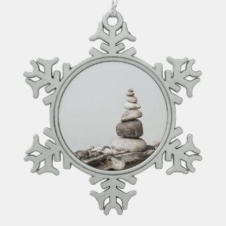 Balanza Adorno De Peltre En Forma De Copo De Nieve