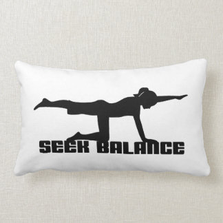 Balanza de la búsqueda de la yoga cojín
