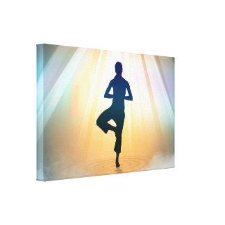 Balanza de la yoga impresión en tela