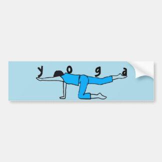 Balanza de la yoga - pegatinas para el parachoques pegatina para auto