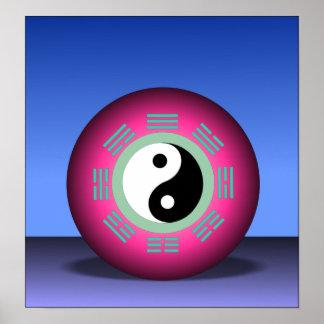 Balanza de poster de Yin y de Yang