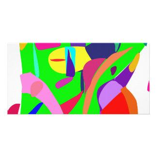Balanza del color plantilla para tarjeta de foto