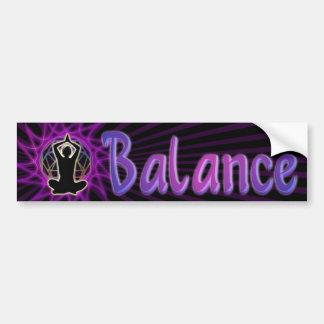 Balanza del ~ de las mujeres: Meditación y geometr Etiqueta De Parachoque