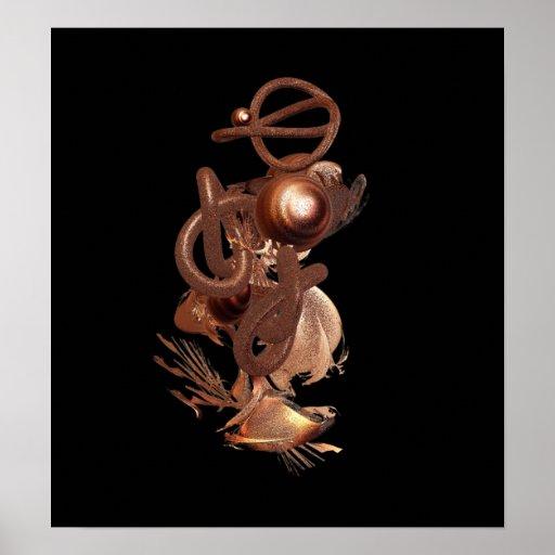 Balanza - impresión del arte abstracto posters