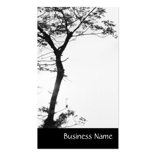 Balanza l fotografía del árbol del zen de la tarjetas de visita