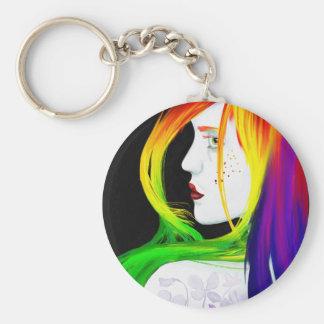 Balanza - llavero del arco iris