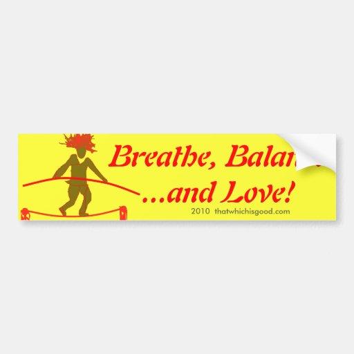 Balanza… que equilibra etiqueta de parachoque