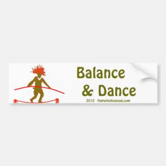 Balanza… que equilibra pegatina para auto