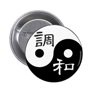 Balanza y armonía Yin yang Pin Redondo 5 Cm