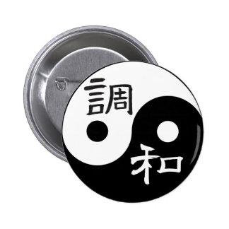 Balanza y armonía Yin yang Pin Redondo De 2 Pulgadas
