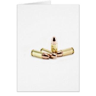 balas de 9m m tarjeta de felicitación