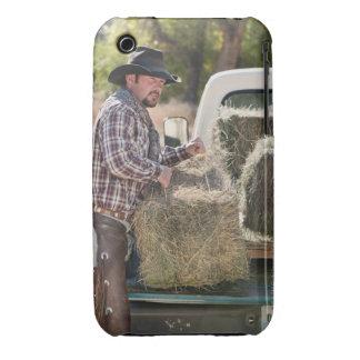 Balas de elevación del vaquero de heno Case-Mate iPhone 3 carcasa