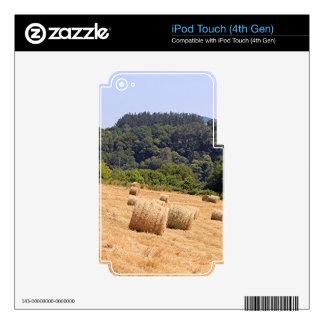 Balas de heno a lo largo del EL Camino, España Calcomanías Para iPod Touch 4G