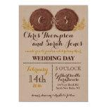 Balas de heno del boda QUE CASAN la INVITACIÓN