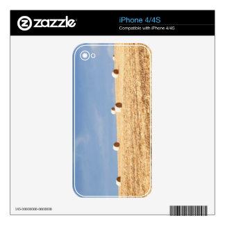 Balas de heno en campo skin para el iPhone 4